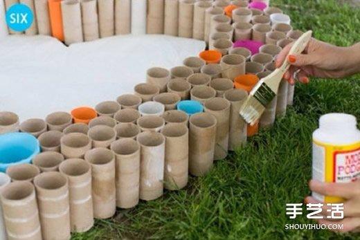 捲紙筒變廢為寶DIY手工製作立體愛心的方法