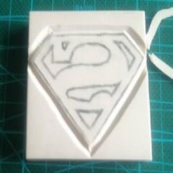 超人图案橡皮图章的手工制作图解教程