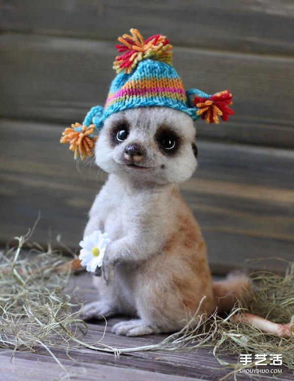 羊毛氈小動物作品 很難相信它們不是活物啊