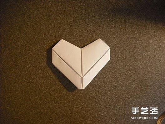 爱心折纸步骤_立体心形折纸图解 立体爱心的折法步骤_手艺活网