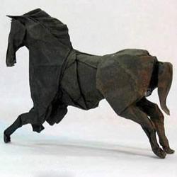 手工折纸马图解教程 立体马的折法详细步