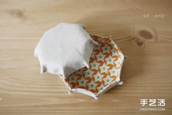 簡單果盤製作方法圖解 家居布藝果盤DIY教程