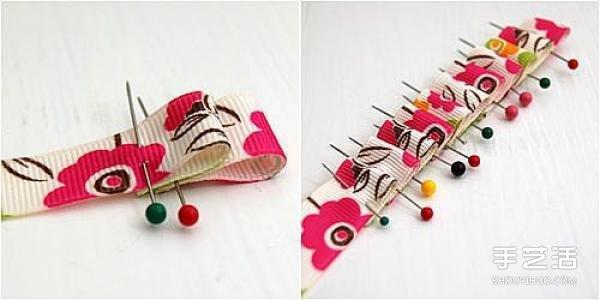 田園風兒童手鐲DIY製作圖解教程 用綢帶做