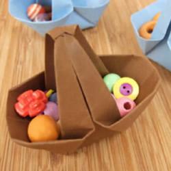 怎么折纸篮子 简单篮子的折法图解教程