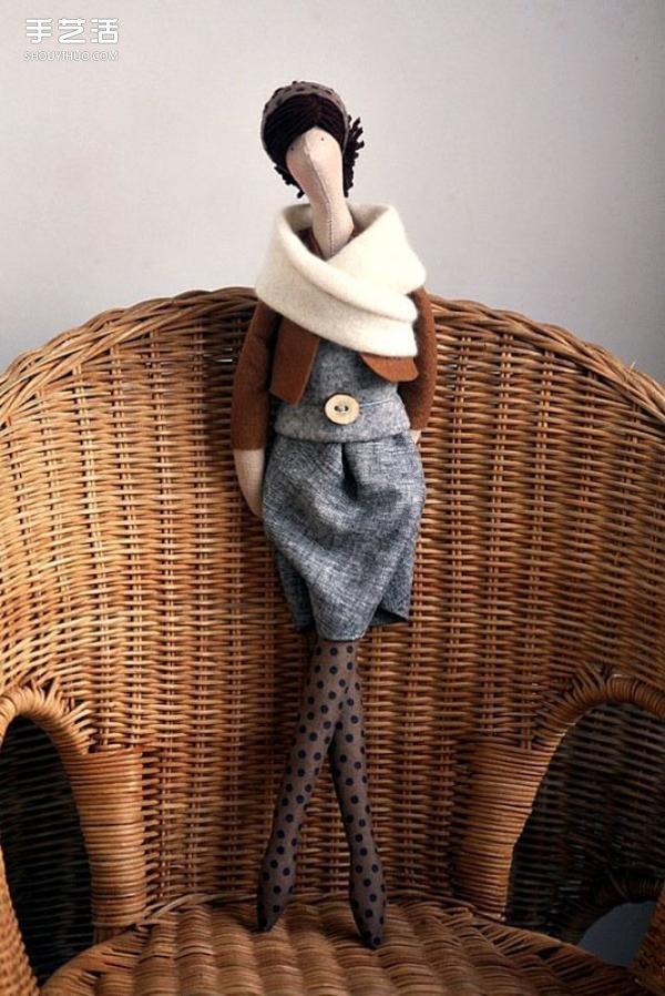 一組時尚女郎布偶作品圖片 優雅的讓人嫉妒