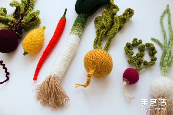 毛線編織的蔬菜水果作品 賣得比新鮮的貴多了