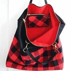 带拉链手提包包DIY制作图解 附带有零钱小包