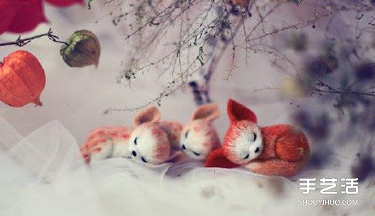 精緻羊毛氈小動物作品圖片 融化人心的萌樣