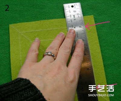 不織布掛飾手工製作 優雅布藝掛飾DIY圖解