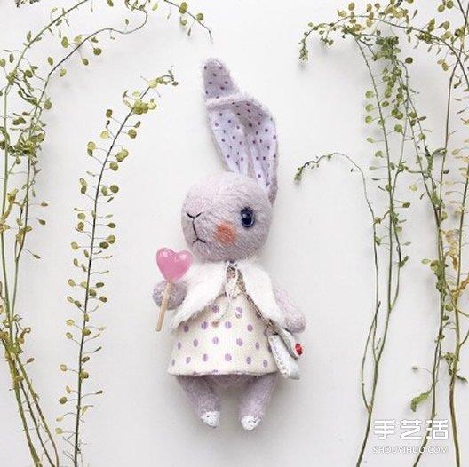 各種賣萌的手工布藝兔寶寶作品圖片