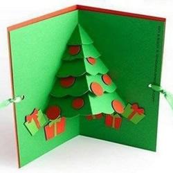 圣诞节立体圣诞树贺卡制作方法 详细图解