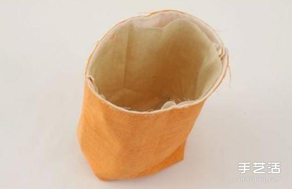 不織布收納袋DIY圖解 手工布藝收納袋製作教程
