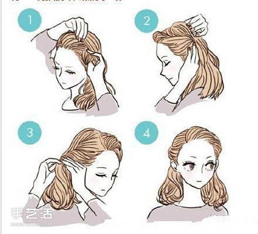 9種綁頭髮的簡單方法 學習綁頭髮的圖解教程