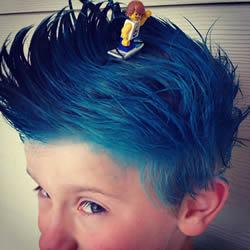 儿童疯狂发型没极限 想也没想过的奇特发型