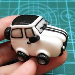 超轻粘土越野车制作方法 粘土小汽车图片教程
