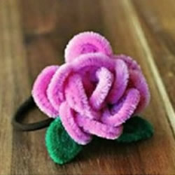 扭扭棒花朵教程图解 DIY手工制作玫瑰花头