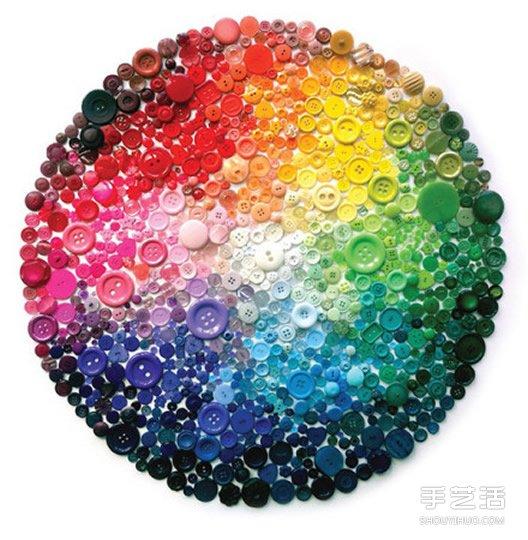 纽扣拼贴画DIY图片 利用纽扣拼贴出的装饰画 -www.shouyihuo.com