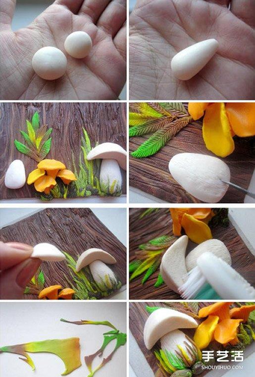 精美的粘土画教程 立体粘土画手工制作图解 -www.shouyihuo.com