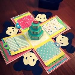 带机关可爱立体卡片折纸 根本是情人必杀