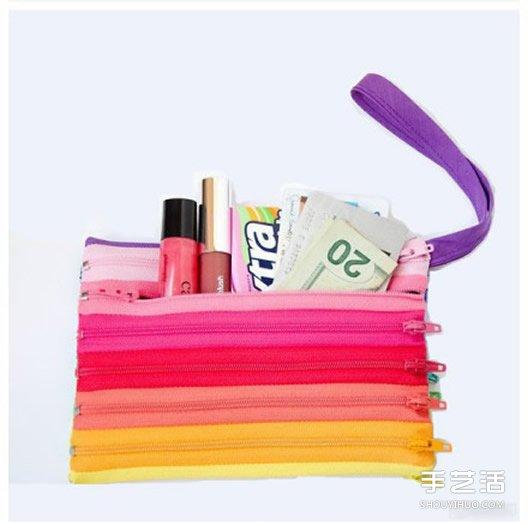 手拿拉鏈包零錢包DIY製作教程 材料全部是拉鏈