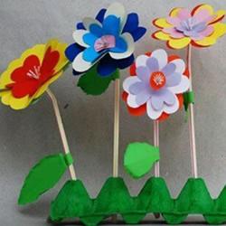 幼儿剪纸花朵的方法 简单纸花的剪纸制作
