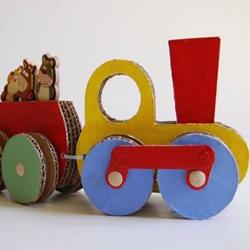 硬纸板手工制作火车模型的方法图解教程