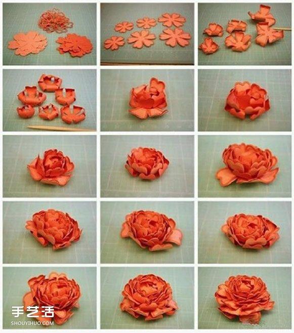 8种美丽纸花的制作过程 立体纸花的做法图解 -  www.shouyihuo.com