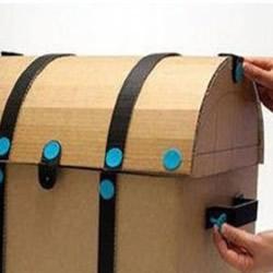 利用废弃纸箱DIY制作儿童玩具收纳箱的做