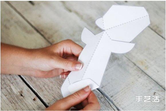 立体驯鹿圣诞贺卡制作 立体圣诞节卡片DIY教程 -  www.shouyihuo.com
