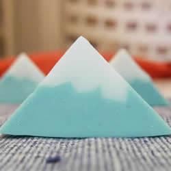 简单步骤自制三角手工皂 日本富士山造型肥皂