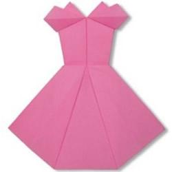 如何折纸裙子的方法 手工折纸裙子的折法图解