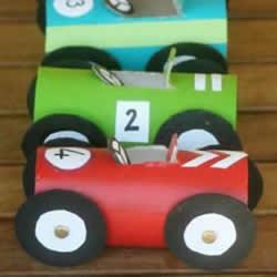 纸巾筒手工制作儿童玩具车的简单方法教