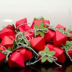 草莓包装盒手工制作 草莓造型喜糖盒子的做法