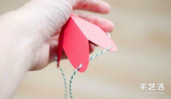 草莓包裝盒手工製作 草莓造型喜糖盒子的做法