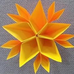 立体纸花的折法图解 立体手工纸花制作方