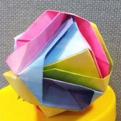 如何折纸日本锦 花球日本锦的折法图解教程