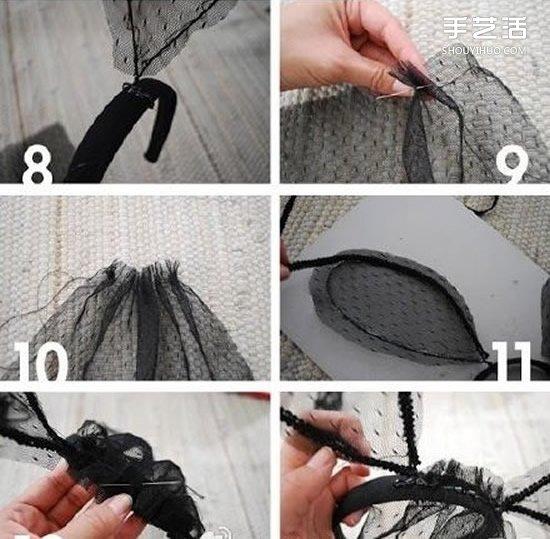 兔耳朵髮飾怎麼做 紗網兔耳朵髮飾製作教程