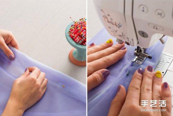超夢幻紗裙的做法圖解 把毛線球放入紗裙里!