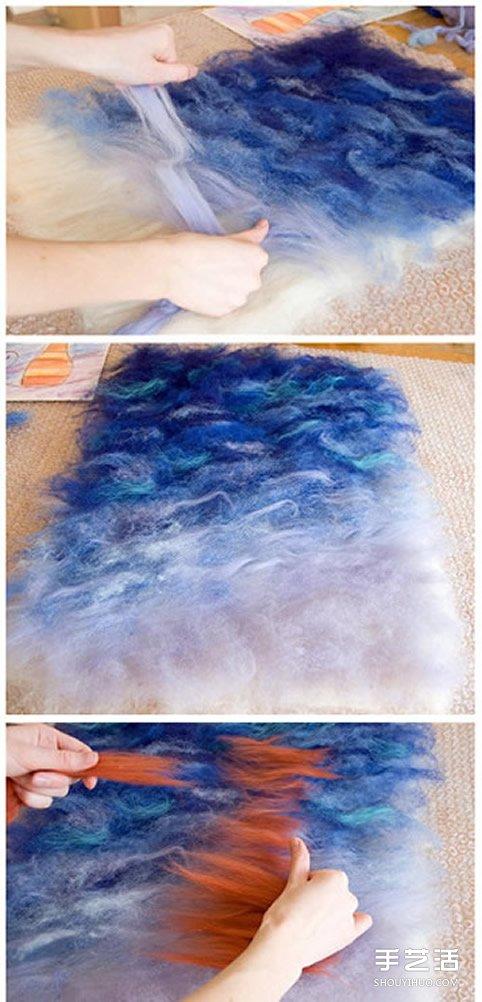羊毛氈畫教程 將塗鴉DIY製作成漂亮的毛氈畫