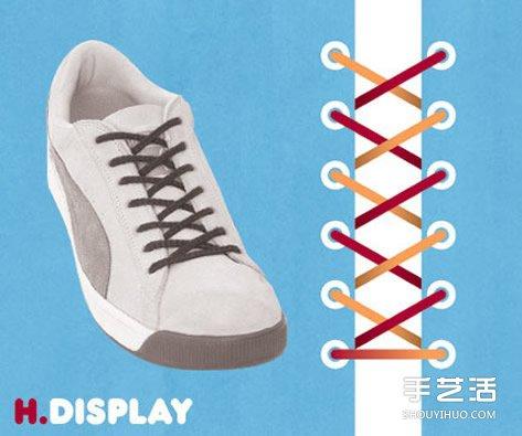 9种鞋带的系法图解 绑鞋带的方法最好看实用