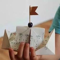 轮船的折叠方法图解 简单儿童折纸轮船教程