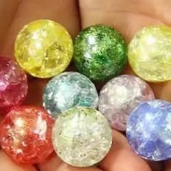水晶玻璃球制作教程 弹珠DIY冰裂水晶的方法