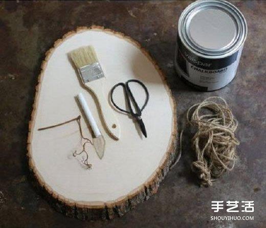 森系門牌指示牌製作教程 自製木頭指示牌門牌