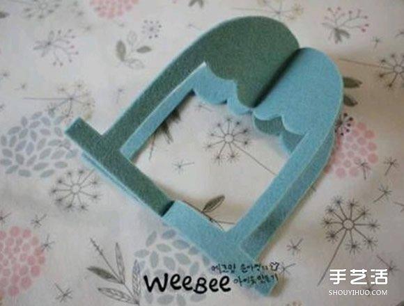 不织布鸟笼制作图解 手工布艺鸟笼挂饰DIY教程