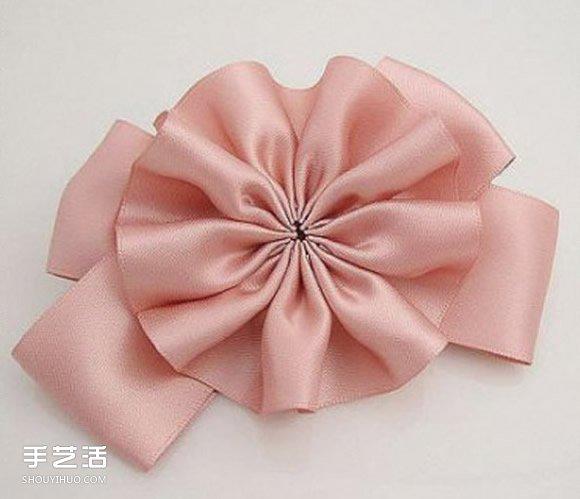 自製緞帶花發卡的方法 好搭緞帶花朵髮飾DIY