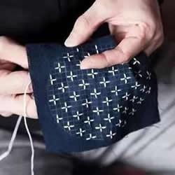 什么是刺子绣 一组日本简朴刺子绣作品图片