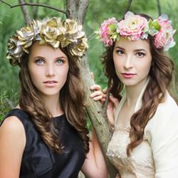 新娘鲜花花环制作方法 鲜花头饰花环DIY教程