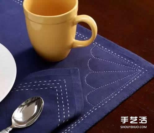 什麼是刺子綉 一組日本簡樸刺子綉作品圖片