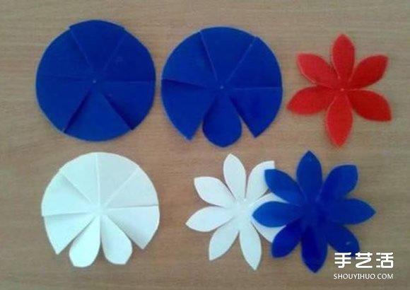 幼儿手工教程 简单又好玩的剪纸弹簧花小制作