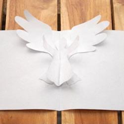 A4纸做贺卡的方法 创意立体天使贺卡手工